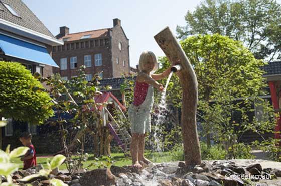 waterpomp voor groen schoolplein