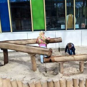 waterspeelplek voor groene schoolpleinen